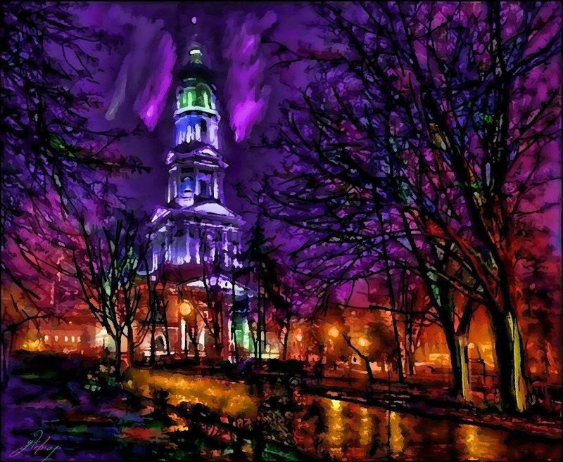 """""""Lights Of Autumn Nights"""", 2015, Yuriy Ku Drop"""