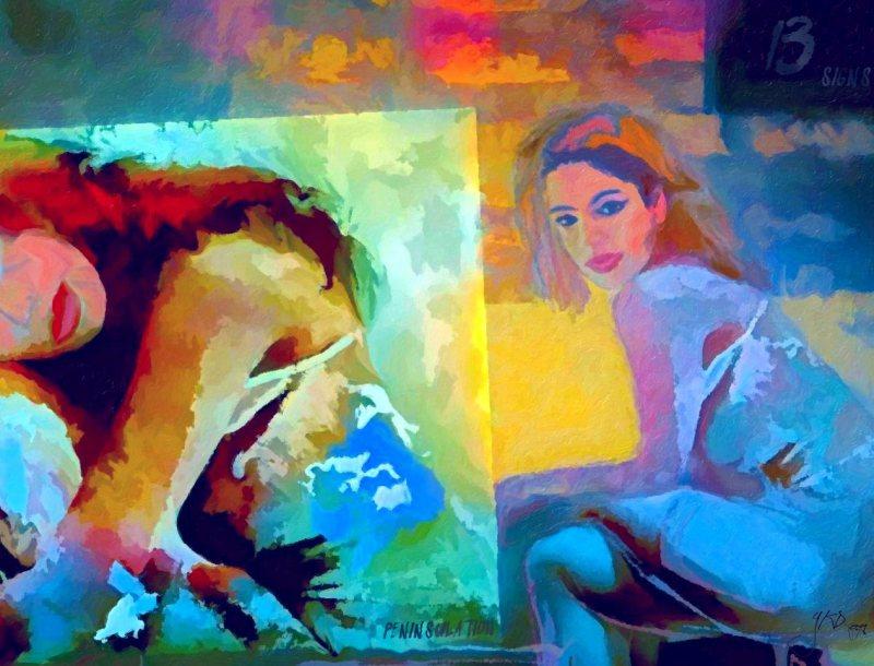 """Peninsulation"", Diptych, 2014-2015, Yuriy Ku Drop"