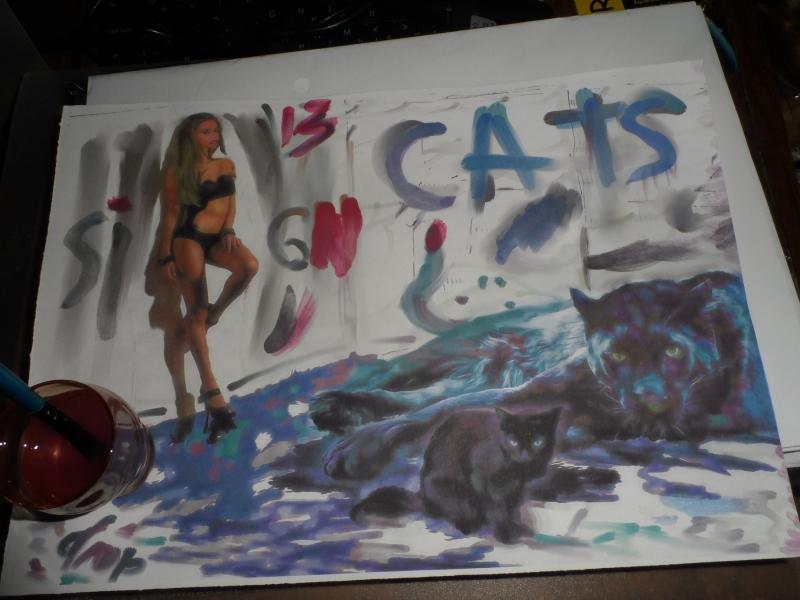 """Cats-Hooligans"", 2016, Yuriy Ku Drop"