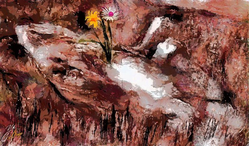 """Flowers On Stones"", 2016, Yuriy Ku Drop"