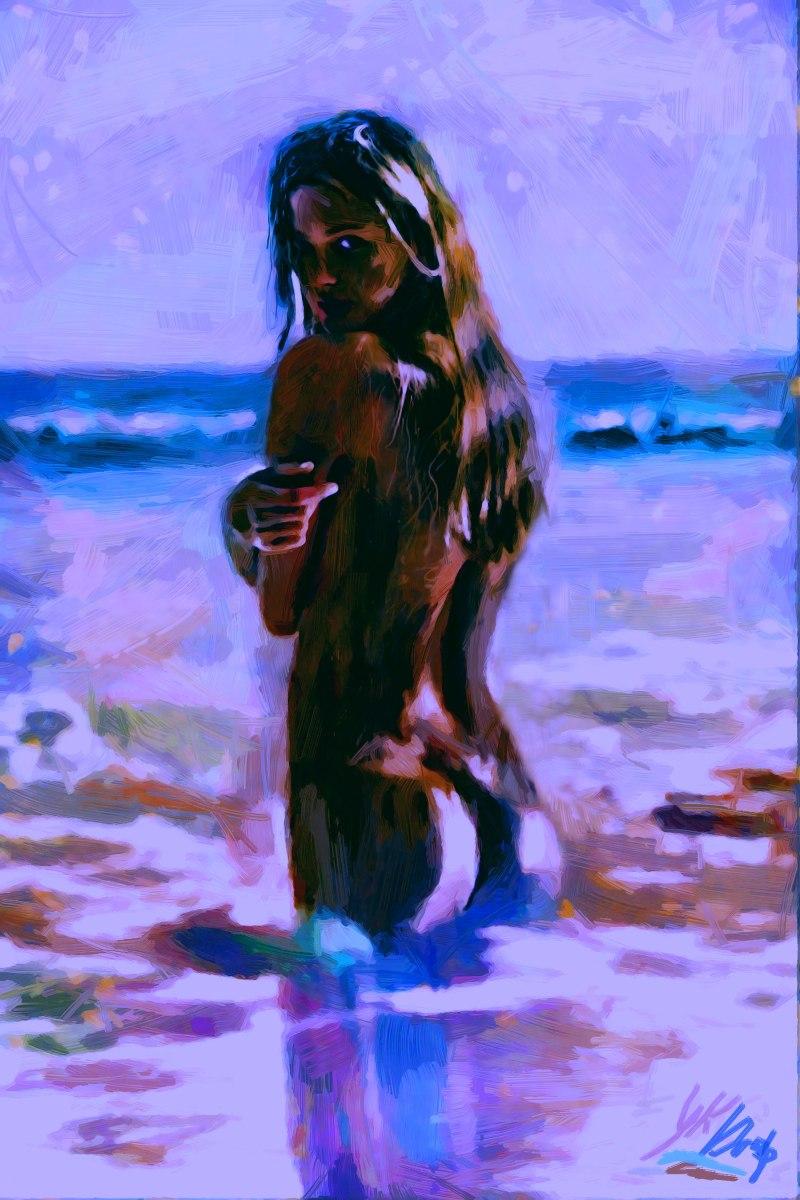 """""""Night In California Sea"""", 2016, Yuriy Ku Drop"""