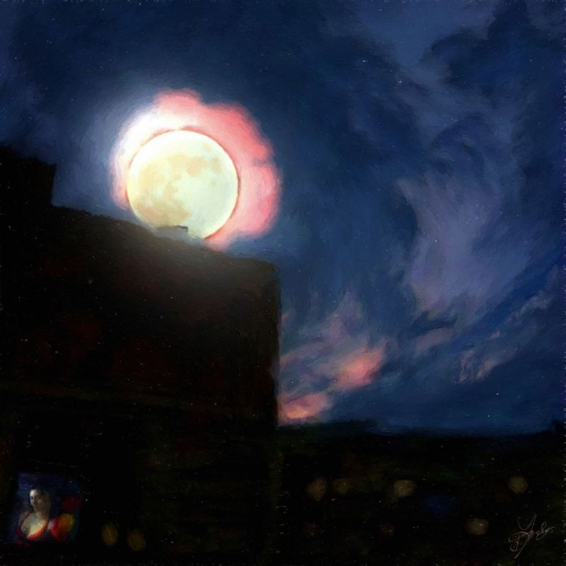 """""""Window And Moon"""", 2016-2017, Yuriy Ku Drop"""