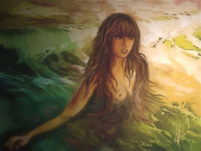 """""""Moon Mermaid"""", 2016-2017, Yuriy Ku Drop"""