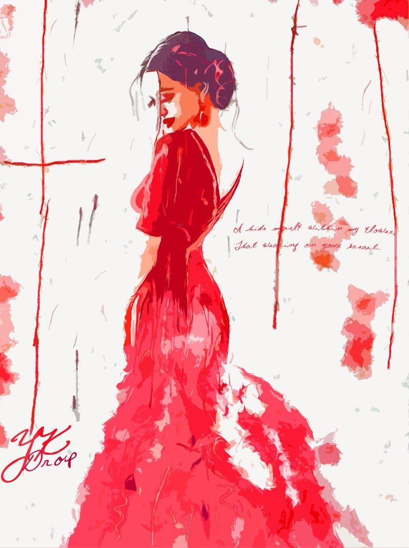 """Red Wearing"", 2015, Yuriy Ku Drop"